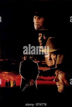 MORGAN FREEMAN GENE HACKMAN & CLINT EASTWOOD UNFORGIVEN (1992) - Stock Image