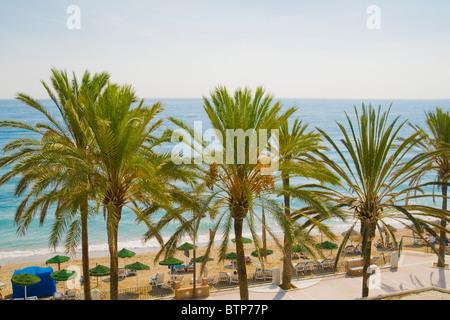 Marbella, Beach, Costa del Sol, Spain - Stock Image