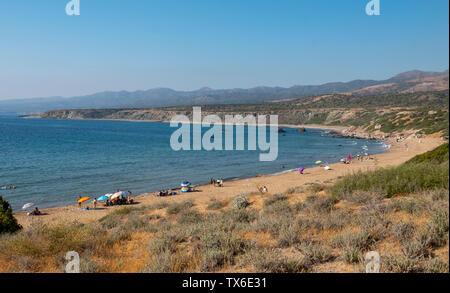Lara bay beach on the Akamas peninsula, Cyprus. - Stock Image
