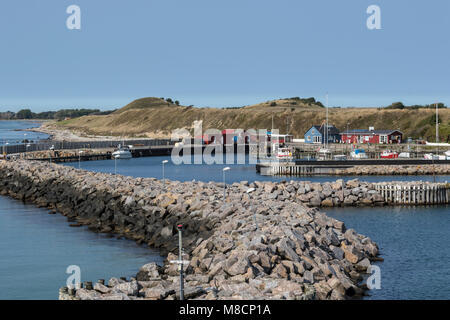 Sejerø harbour - Stock Image