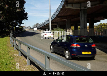 The Ringway Whitefriars section of the ring road running round the eastern side of Coventry city centre UK - Stock Image