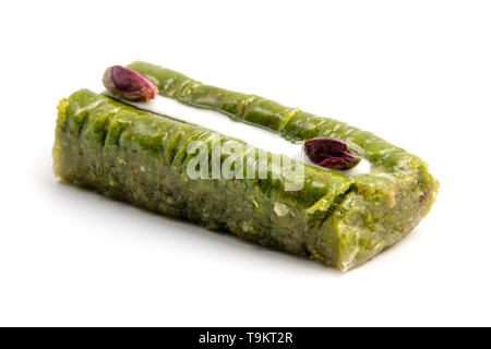 Traditional turkish Princess Baklava on a white background - Stock Image