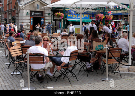 Andronicas Cafe at Covent Garden London summer 2010 - Stock Image