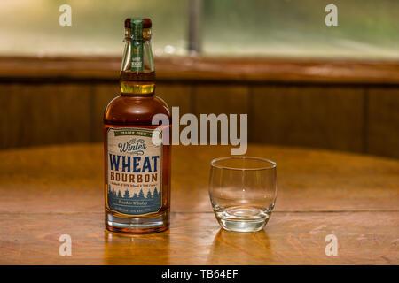 Trader Joes Wheat Bourbon Whisky - Stock Image
