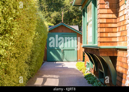 Palo Alto HP Garage Birthplace of Silicon Valley. Hewlett Packard Garage - Stock Image