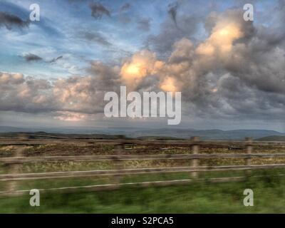 Countryside sunset - Stock Image