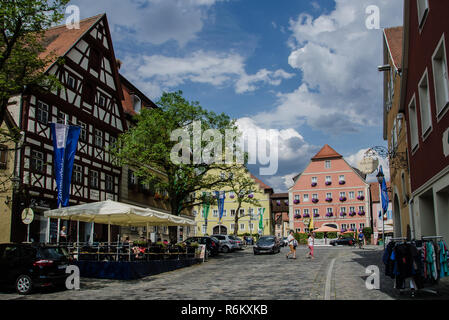 Feuchtwangen is a city in Ansbach district in the administrative region of Middle Franconia in Bavaria, Germany. - Stock Image