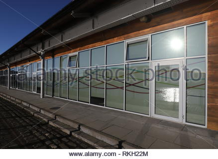 Exterior of Dundee and Angus Chamber of Commerce Shed 26 City Quay Dundee Scotland  January 2019 - Stock Image