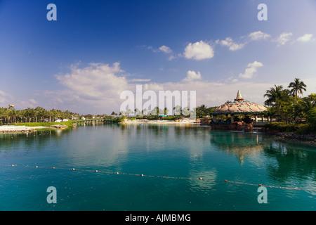 Paradise Lagoon at Atlantis Resort Paradise Island Bahamas - Stock Image