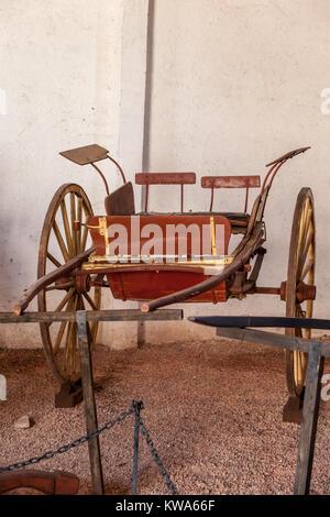 Old Chariot in Vineyard in Mendoza Argentina - Stock Image