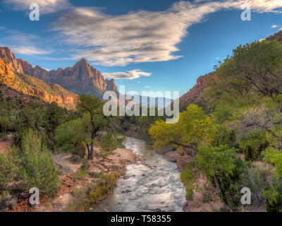 Zion National Park is an American national park located in Southwestern Utah near the city of Springdale. - Stock Image