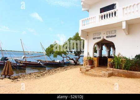 The beach outside stop over guest house at Shela, Lamu Island, Kenya - Stock Image