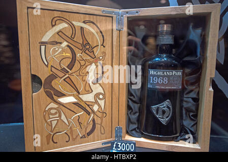 Sought after by collectors a much prized 1968 Highland Park Single Malt Whiskey from the heart of the Orkney Isles. - Stock Image