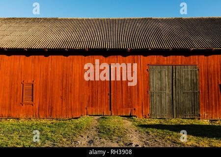 Wooden barn - Stock Image