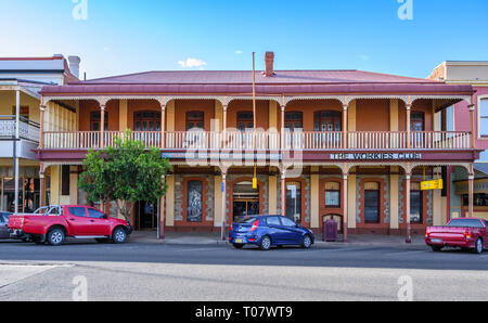 Silver City Workingman's Club, in Argent Street, Broken Hill, New South Wales, Australia. - Stock Image