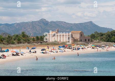 Beach in Sardinia, Italy - Stock Image
