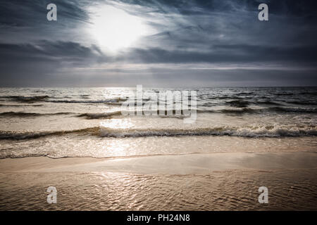 Sunset over the sea - Stock Image
