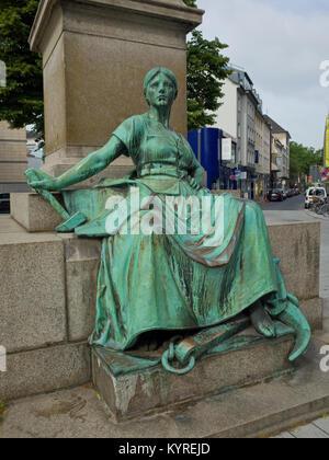 Bismarck bronze statue Dusseldorf Germany - Stock Image