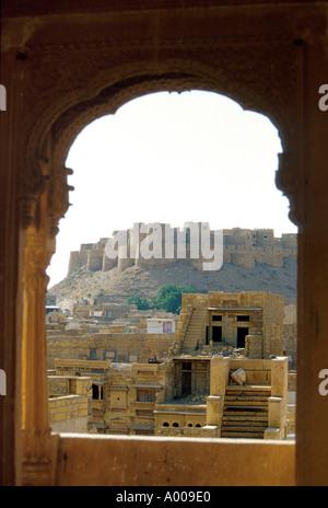 Walled City of Jaisalmer, Rajasthan, India - Stock Image