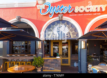 Entrance to The Oyster Society Restaurant on Marco Island, Naples, Florida, USA - Stock Image