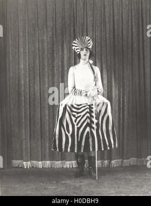 Woman in zebra fashion - Stock Image