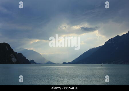 Summer scene at Lake Brienz, Switzerland. - Stock Image