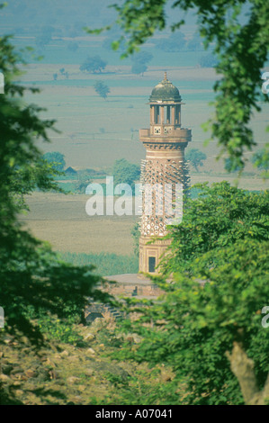 Fortified Tower, Fatehpur Sikri, Rajasthan, India - Stock Image