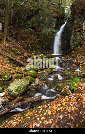 Glen Falls in West Fairlee, Vermont.  Cross-Rivendell Trail. - Stock Image
