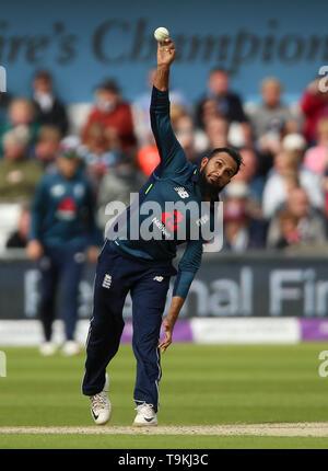 England's Adil Rashid during the One Day International match at Emerald Headingley, Leeds. - Stock Image