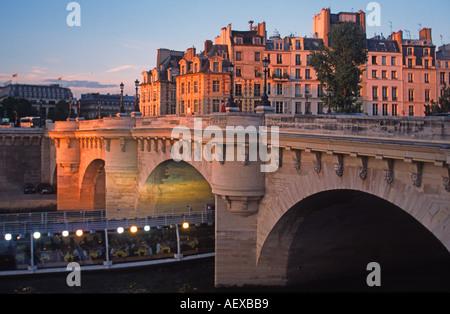 France Paris Pont Neuf Seine brigde  - Stock Image