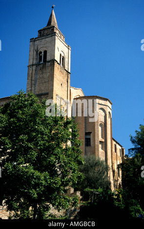 Amandola Church tower in Le Marche the Marches Italy - Stock Image