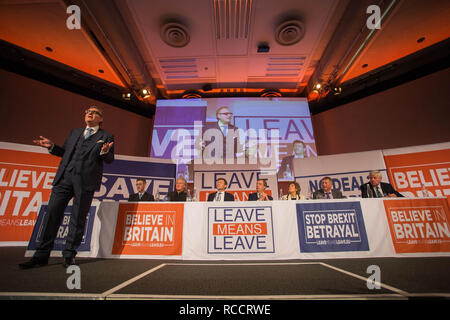 'Leave Means Leave' rally held at Queen Elizabeth II Conference Centre  Featuring: Atmosphere, View Where: London, United Kingdom When: 14 Dec 2018 Credit: Wheatley/WENN - Stock Image