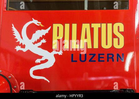 Pilatus Railroad Luzern Switzerland - Stock Image