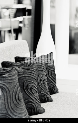 Cushions on a couch - Stock Image