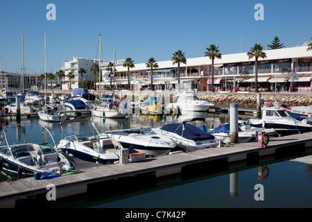 Portugal, Algarve, Lagos, Marina & Yachts - Stock Image