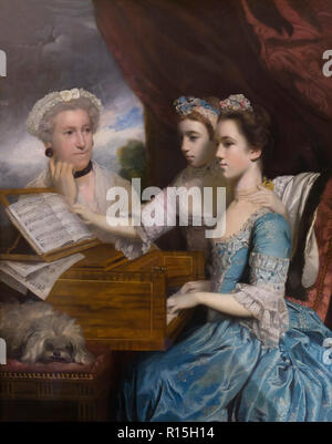 Mrs Paine and her Daughters, Sir Joshua Reynolds, 1765, Lady Lever Art Gallery, Port Sunlight, Liverpool, England, UK, Europe - Stock Image