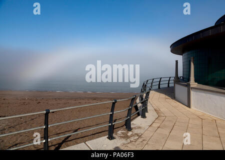 Mistbow, Aberystwyth seafront, Wales, United Kingdom - Stock Image