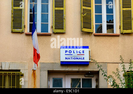 The local headquater of the national police somewhere in south of France - Stock Image