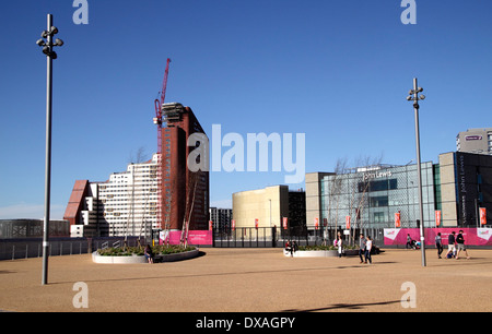 Stratford One student flats and John Lewis Store Stratford London - Stock Image
