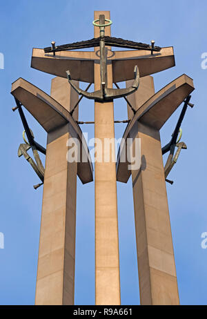 Monument to the Fallen Shipyard Workers Gdańsk Poland - Stock Image