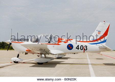 Croatian Air Force ZLIN 242 L '403' basic trainer aircraft, Zemunik AFB, May 17, 2008 - Stock Image