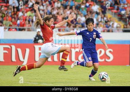 Japan player Rikako KOBAYASHI (7) against Spain player Silvia MERIDA (4) - Stock Image
