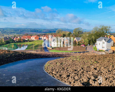 Ashbourne, Derbyshire. 10th Jan, 2018. UK Weather: unusually warm & sunny January day on a new housing development - Stock Image