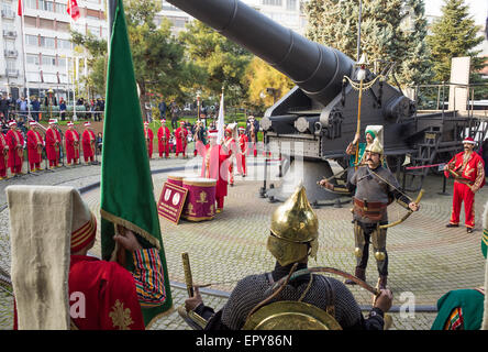 The Mehter Band who perform daily at the Military Museum Istanbul - Stock Image