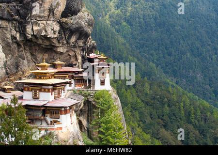 Tiger nest in Bhutan - Stock Image