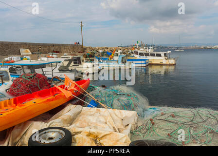 Marseille, FRANCE, Marine Scenic, Fishing Boats in Port de la Madrague - Stock Image