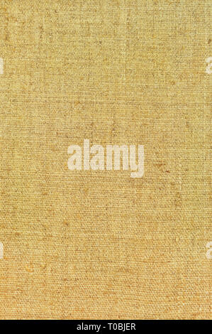Natural textured vertical grunge burlap sackcloth hessian copy space sack texture, beige grungy vintage country sacking canvas, large detailed bright - Stock Image