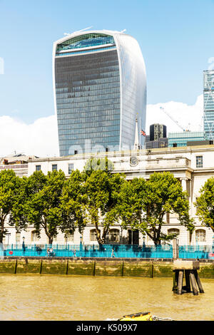 20 Fenchurch Street is a commercial skyscraper in London, London's 'Walkie-Talkie' skyscraper, walkie talkie building London, walkie talkie London UK - Stock Image