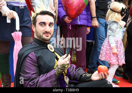 The Evil Queen From Snow White, London Games Festival, Guildhall Yard, City of London. UK - Stock Image