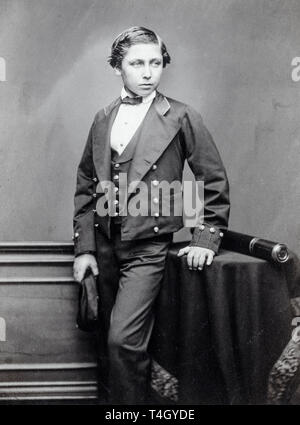 John Jabez Edwin Mayal, The Prince of Wales (Edward VII), portrait photograph as a teenager, c. 1856 - Stock Image